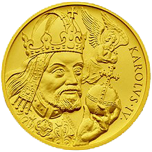 Zlatá medaile 100 Dukát Karel IV. 2007 Standard