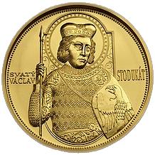 Zlatá medaile 100 Dukát sv. Václav 2008 Standard