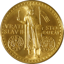 Zlatý 100 dukát Vratislav II. 2011 Standard