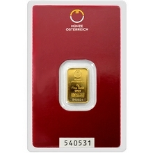 2g Münze Österreich Investiční zlatý slitek