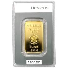31,1g Heraeus Německo Investiční zlatý slitek