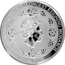 Stříbrná mince Nejdéle vládnoucí monarcha 2015 Proof
