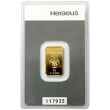 5g Heraeus Německo Investiční zlatý slitek
