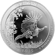 Stříbrná investiční mince America the Beautiful - Louisiana 5 Oz 2015
