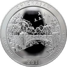 Stříbrná investiční mince America the Beautiful - Oklahoma 5 Oz 2011