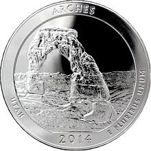 Stříbrná investiční mince America the Beautiful - Utah 5 Oz 2014