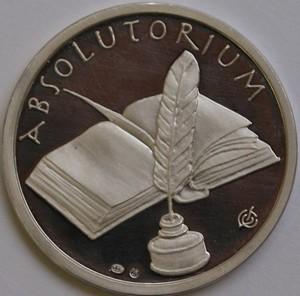 Stříbrná medaile Ukončení studia