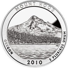 Stříbrná investiční mince America the Beautiful - Oregon 5 Oz 2010
