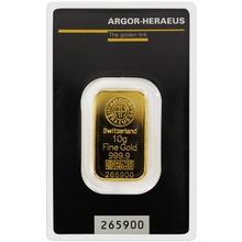 10g Argor Heraeus SA Švajčiarsko Investičná zlatá tehlička