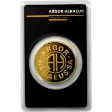31,1g Argor Heraeus SA Švajčiarsko Roundbar Investičná zlatá tehlička