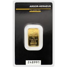 5g Argor Heraeus SA Švýcarsko Investiční zlatý slitek