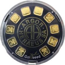 10 x 1g Argor Heraeus SA Švýcarsko Goldseed Investičné zlaté tehličky
