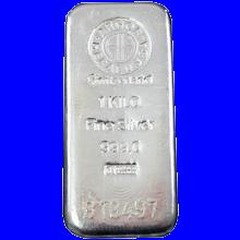 1000g Argor Heraeus SA Švýcarsko Investiční stříbrný slitek