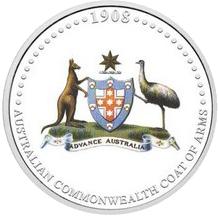 Stříbrná mince Australian Commonwealth Coat 2008