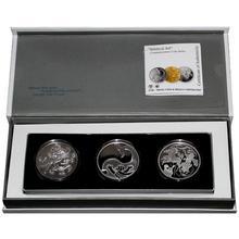 Biblické umění 2 NIS Sada stříbrných mincí Izrael 2009 - 2011 Proof