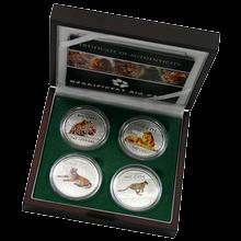 Sada stříbrných mincí Magnificent Big Cats 2011 Proof Kongo