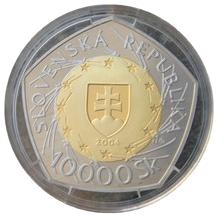 Bimetalová mince 10000 Sk ke vstupu SR do EU