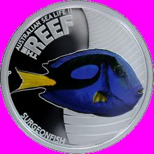 Stříbrná mince Bodlok rudomořský Australian Sea Life II. 2012 Proof