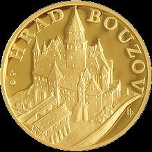 Zlatá uncová medaile Hrad Bouzov 2011 Proof