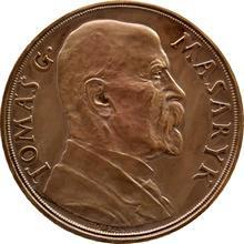 Bronzová medaile T.G. Masaryk 85. narozeniny 1935