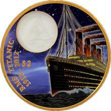 Bronzová kolorovaná mince Titanic - Night 100. výročí 2012 Proof