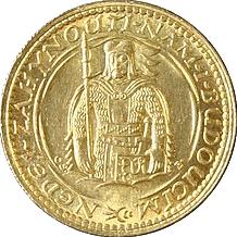 Zlatá minca Svätý Václav Jednodukát Československý 1925