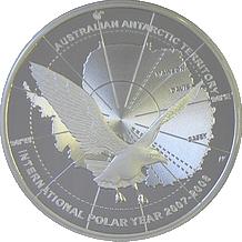 Stříbrná mince Chaluha Polární rok 2008 $5