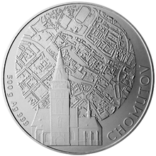 Stříbrná investiční medaile 500 g Statutární města ČR - Chomutov 2012 Standard