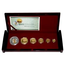 Lunární sada zlatých mincí Čínská Panda 2011 Proof