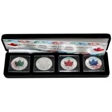 Maple Leaf Čtyři roční období Sada stříbrných mincí 2015 Standard (.9999)