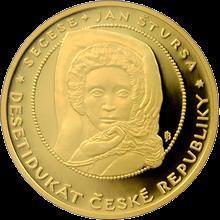 Desetidukát ČR Secese 2008 Proof