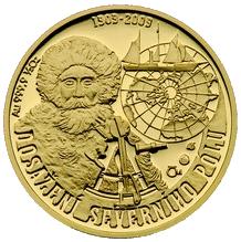 Zlatá půluncová medaile Dosažení severního pólu 2009 Proof