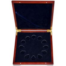 Dřevěná krabička 12 x Au 1/10 Oz Lunární série II. 2008 - 2019