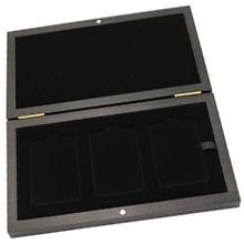 Drevená krabička na zlaté a strieborné tehličky 3 x od 1 gramu do 100 gramov