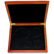 Dřevěná krabička 5 x Ag Lunární série II. 2008 - 2019