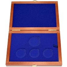 Drevená krabička 3 x Ag ČR 36 mm plus 1 x 45 mm