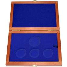 Dřevěná krabička 3 x Ag ČR 36 mm plus 1 x 45 mm