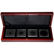 Univerzální hnědá krabička pro čtyři mince do váhy 1 unce