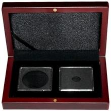 Univerzálna hnedá krabička pre dve mince do váhy 1 unca