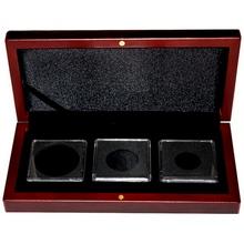 Drevená krabička pro tri mince do váhy 1 unca