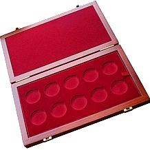 Dřevěná krabička 10 x Au ČR (DSA)