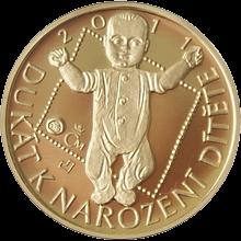 Zlatý dukát k narození dítěte 2011 Proof