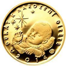 Zlatý dukát k narození dítěte 2014 Proof