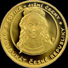 Dvoudukát ČR Gotika 2008 Proof