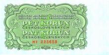 5 Kčs emise 1953 (český tisk)
