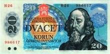 20 Kčs emise 1988