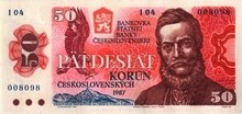 50 Kčs emisia 1987