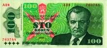 100 Kčs emisia 1989