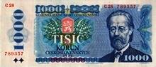 1000 Kčs emise 1985