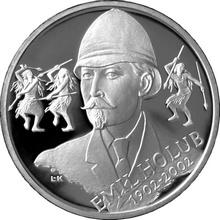 Stříbrná mince 200 Kč Emil Holub 100. výročí úmrtí 2002 Proof